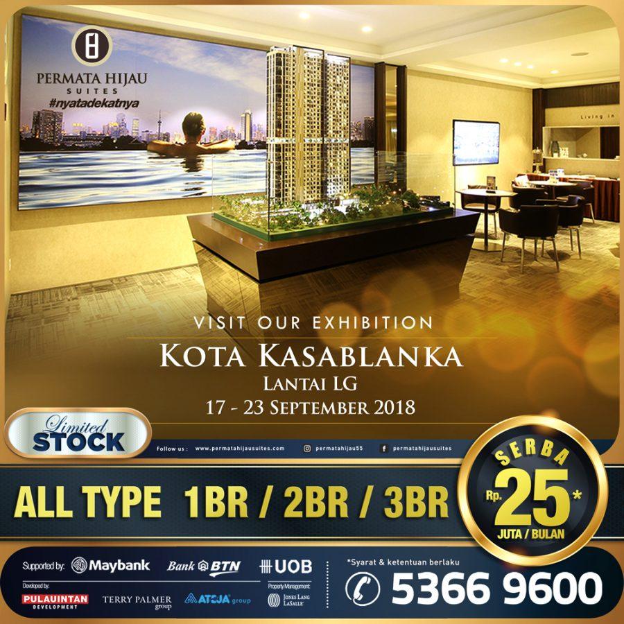Kunjungi booth Permata Hijau Suites di Kota Kasablanka mall