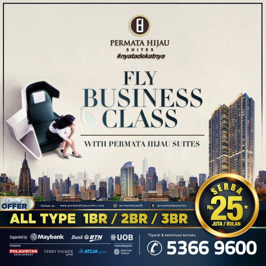 Fly Business Class with Permata Hijau Suites