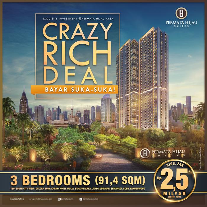 Crazy Rich Deal, Bayar Suka-Suka!