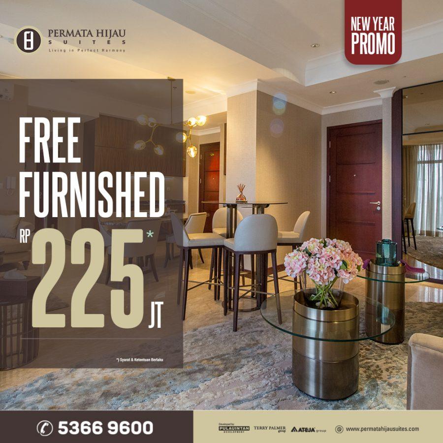 New Year Promo – Free Furnished Rp225Juta*