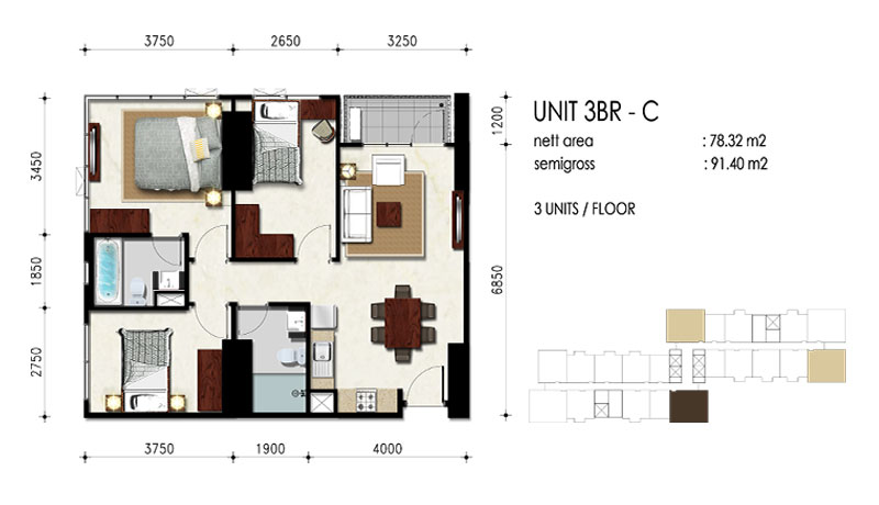 3BR - C