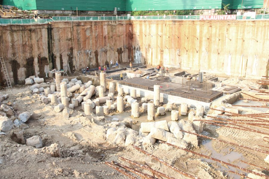Progress Project Permata Hijau Suites-April 2018