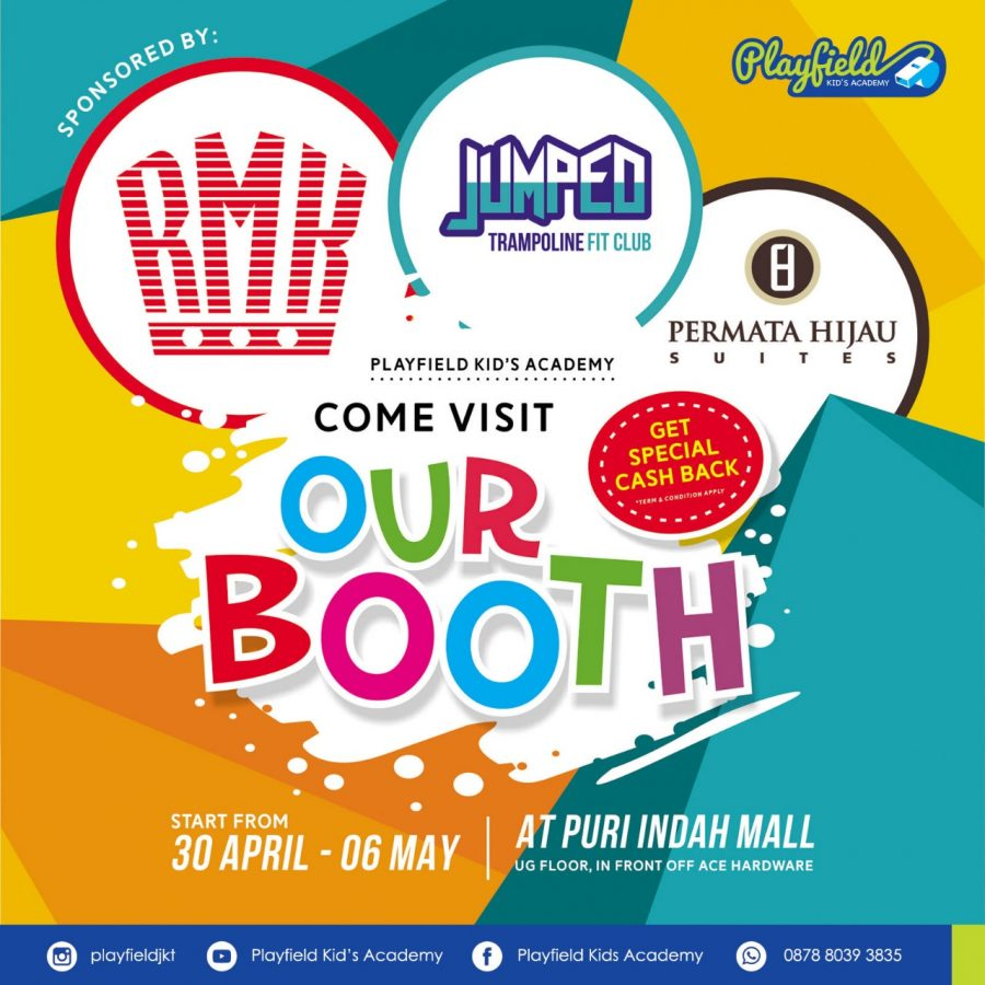 Playfield booth at Puri Mall and get special surprise from Permata Hijau Suites