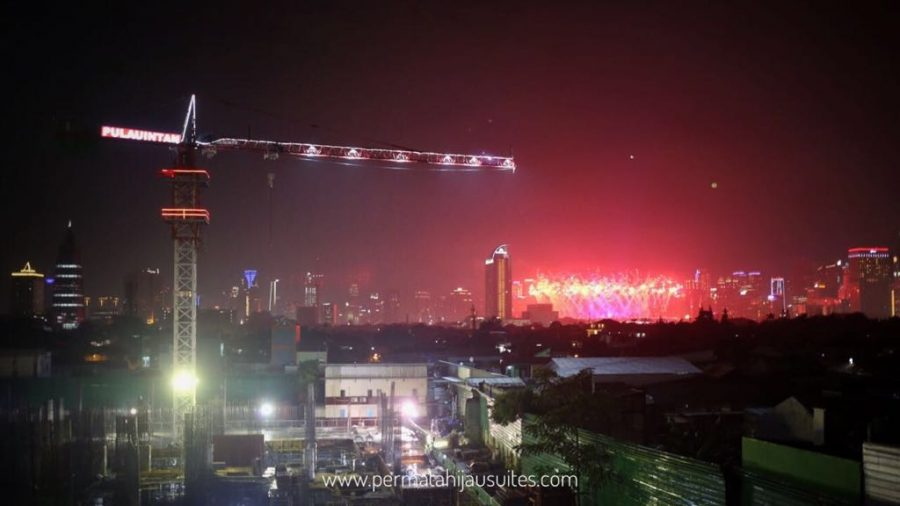 Closing Ceremony Asian Games 2018 view from Permata Hijau Suites